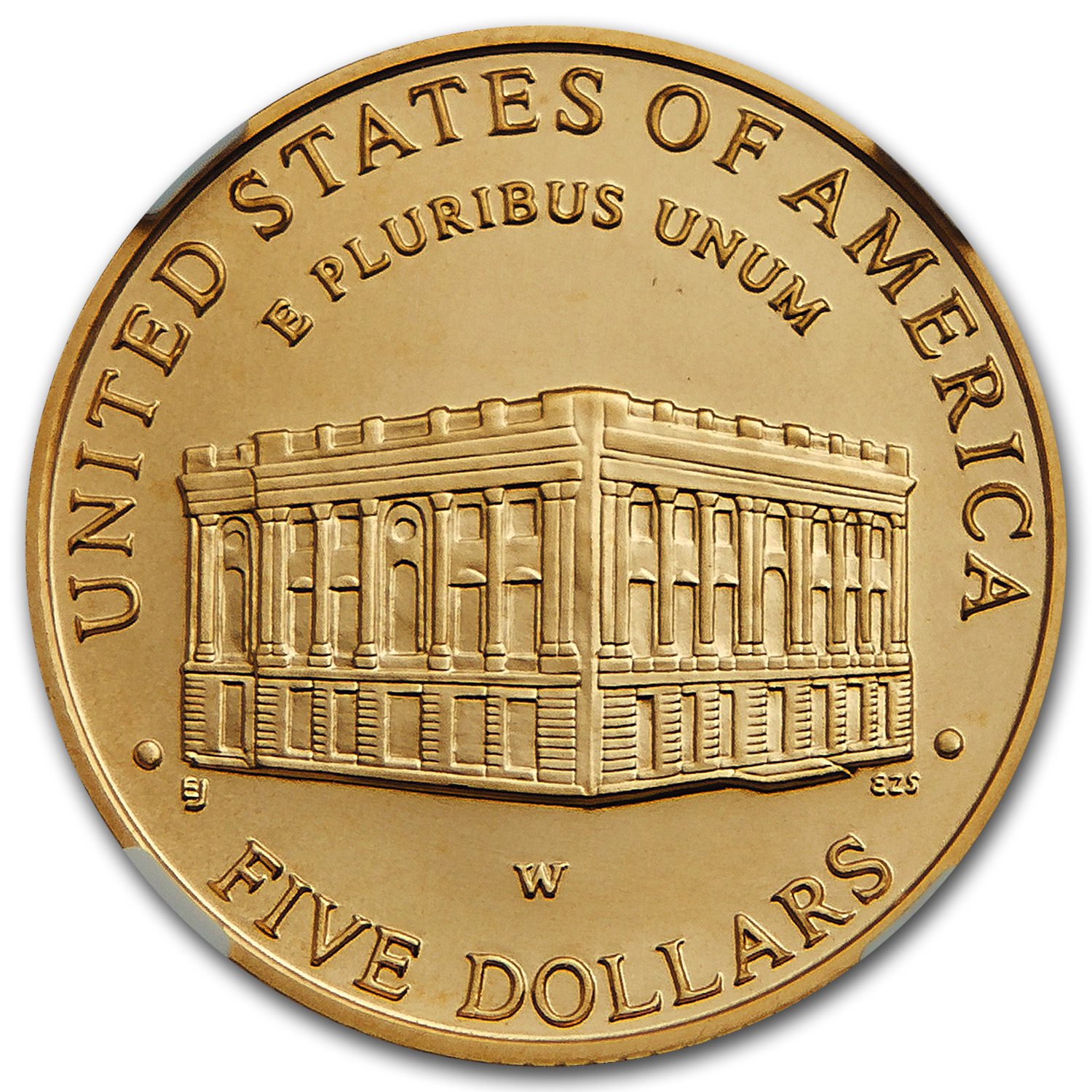 2001-W Capitol Visitor Center - $5 Gold Commemorative - MS-70 NGC